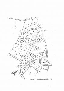 Plan cadastral napoléonien du village de Belflou 1819